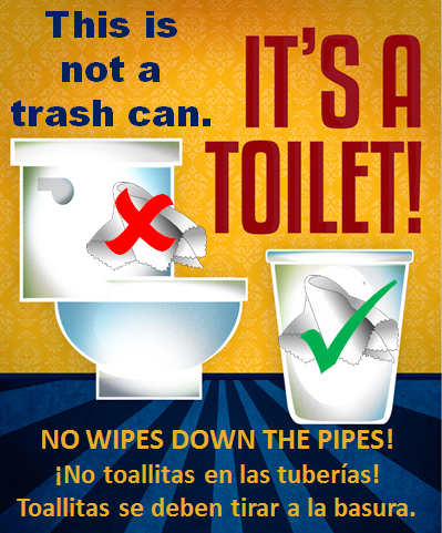 No wipes down the pipes